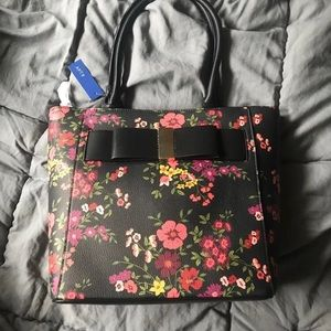 Apt 9 floral bow tote
